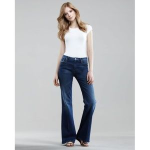 Mother Jeans The Mellow Drama in Stardust raw hem